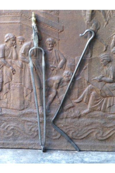 Antiguos Utensilios Chimenea Holandés