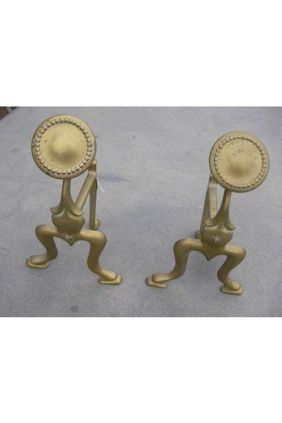 Soporte para utensilios chimeneas (latón)