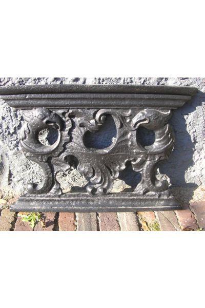 Pedestal para placa de chimenea (hierro fundido)