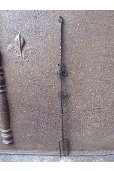 Tenedor para chimenea (hierro forjado)