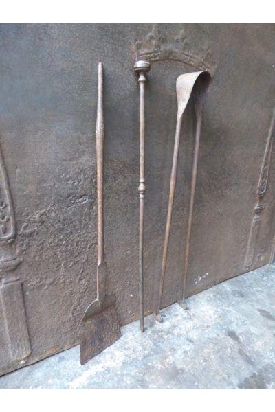 Antiguos Utensilios Chimenea Francés