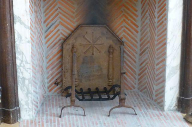 Placa de chimenea antigua morillos antiguos - Chimeneas de hierro fundido ...