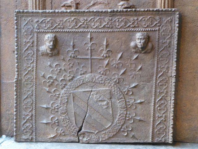Gotische openhaardplaat
